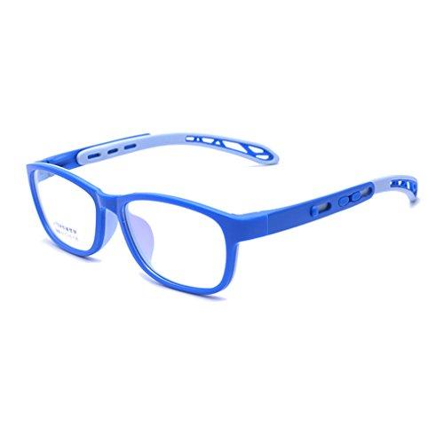 Junkai Junkai Mädchen Jungen TR + Silikon Professionel Klare Linse Brillengestell + Auto Form Brillenetui