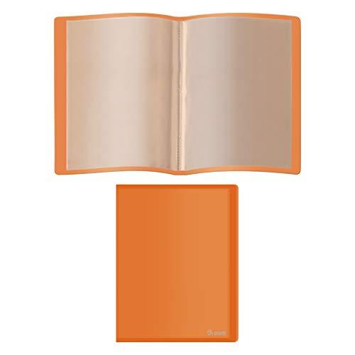 Dohe - Carpeta flexible de 20 fundas (80 micras) - Naranja