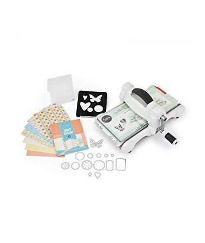 Sizzix Big Shot Starter Kit Macchina per Tagliare e Goffrare, Acciaio Inossidabile, Bianco e Grigio, 17x31x36.2 cm