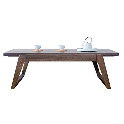 Ljf Kleiner Tisch Couchtisch Ulme Beistelltisch Einfache Massivholztisch Faule Computer Tisch Tatami Plattform Niedrige Tisch Home Bay Window (Color : Brown, Size : 70 * 45 * 30CM)