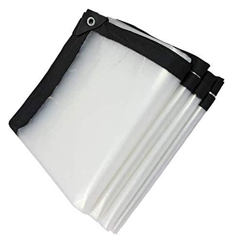 Elviray Lona Impermeable Transparente para Lona de Lona, Resistente al Polvo, Resistente a la Lluvia, Cubierta de Lona para Plantas, Lona Transparente a Prueba de Lluvia (Size : 3X4M)