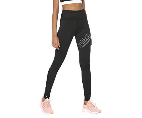 PUMA Damen Leggings Studio Yogini Lux Tights, Puma Black, S, 518281