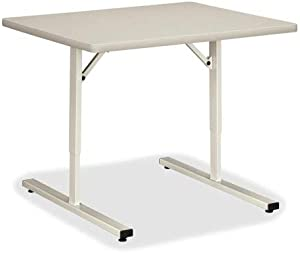Hon Training Tables Without Grommets, 36 by 30 by 22-1/2-Inch to 32-1/2-Inch, Light Gray