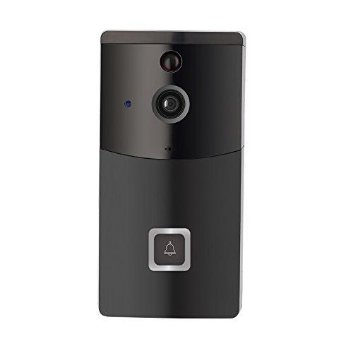 ILS - B10 2,4 GHz zwart waterdicht WiFi 720P laag verbruik video deurbel met tweeweg audio