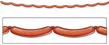 Beistle Pack of 12 Bratwurst Jointed Party New sales Minneapolis Mall Oktoberfest Streamer
