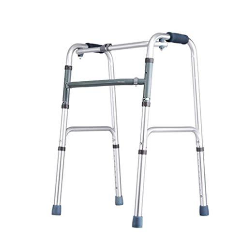 L-Y Ouderdom Eenvoud Wandelen Frames Walker, Lichtgewicht Rollator, met Seat 2 Wiel Mobiliteit 8-Bestanden Hoogte Verstelbare Veiligheid Frames, Ouderen