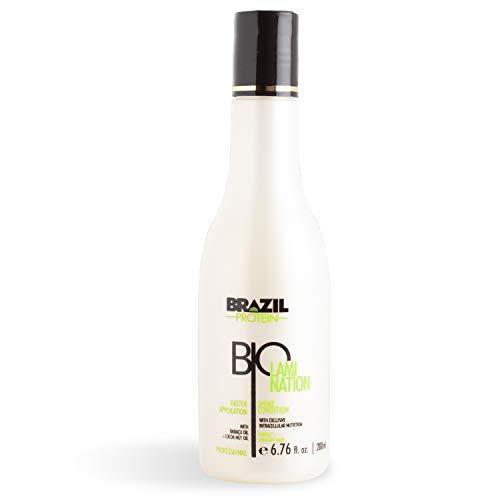 Brazil Protein Biolamination - Shine Condition- Alisador, Alisado Brasileño de Cabello- 200ml -Sin Sulfato - Sin Formol - Con extractos de coco y babaçu - Hidratación y brillo natural