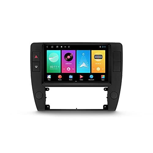 ADMLZQQ Android Autoradio 2 DIN con Bluetooth per Auto 9'' IPS Touchscreen 5G WiFi Plug And Play Completo RCA SWC Supporto Carautoplay/GPS/Dab+/OBDII per Volkswagen Passat B5 2000-2005,M100s
