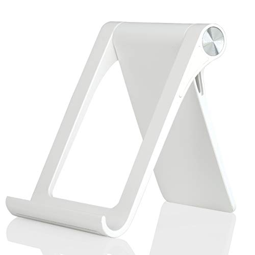 Cell Phone Desk Stand Holder - Uniwit Multi-Angle Adjustable Phone Desk Stand Tablet Holder for iPhone 13 12 11 Pro Max XS XR 8 Plus 6 7 Samsung Galaxy S10 S9 S8 S7 Edge S6 Android Smartphone
