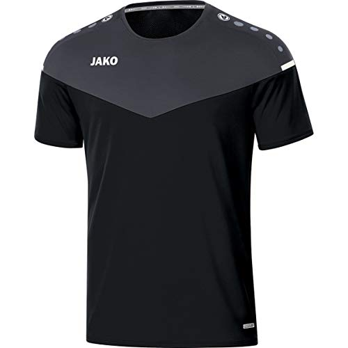 JAKO Kinder T-shirt Champ 2.0, schwarz/anthrazit, 164, 6120