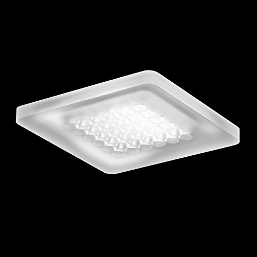 Modul Q36 LED Deckenleuchte, opal ohne Konverter LxBxH 12,2x12,2x1cm für Direktmontage 3000K 750lm CRI>90
