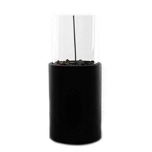 knuellermarkt.de Tisch Ethanol Brenner Tisch-Kamin Dekofeuer für Bio-Ethanol Glaskamin mit Löschstempel für Innen und Außen Dekoration Tischbrenner Stilvolles Design Metall