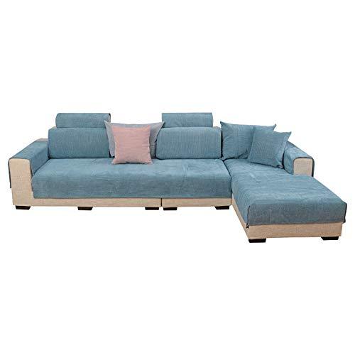 CXLTejido Antideslizante para Cojines de sofá Color sólido Moderno Simple Funda de cojín para sofá Toalla Cuatro Estaciones Funda de sofá para el hogar Transpirable y Duradero
