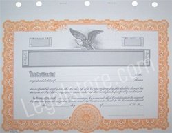 Goes Corporate Certificates, Orange Border, 25 per package by Goes