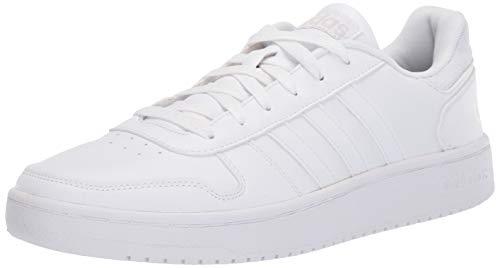 adidas Men's Hoops 2.0 Sneaker, White/White/Grey, 11 M US