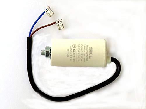 Kondensator 12µF, Motorkondensator 12uF 450/500VAC m. Anschlusskabel, Betriebskondensator, Anlaufkondensator Anlasskondensator