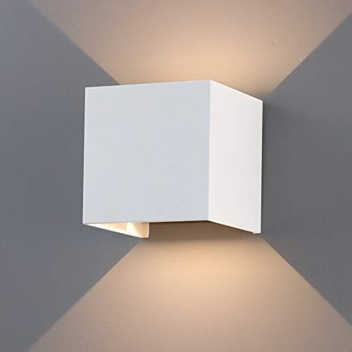 K-Bright Applique da Parete Interni LED,7W Bianco Caldo Moderno Applique al Muro IP65,Esterna da Parete Lampada,Bianco