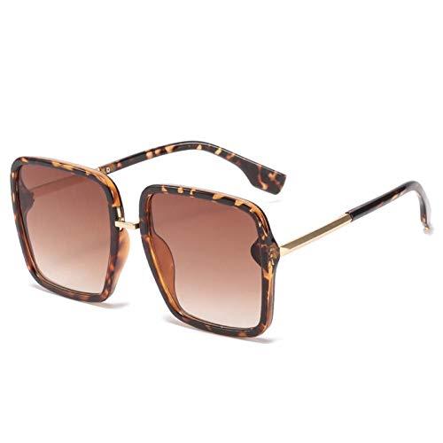 ZZOW Gafas De Sol Cuadradas De Gran Tamaño A La Moda para Mujer, Gafas Graduadas De Diseñador De Marca Vintage, Gafas De Sol De Tendencia para Hombre, Sombras Uv400