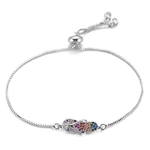 Bracelet Bijoux Bracelet À Breloques en Zircone...