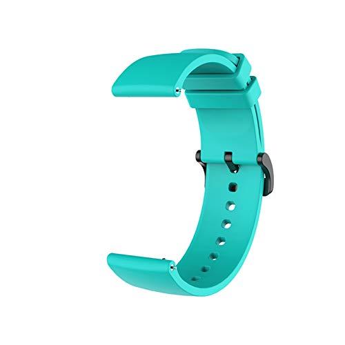 Correa de muñeca de Silicona para Xiaomi Huami Amazfit GTR 42mm GTS Pulsera Accesorios en mi xiomi MI Smart Watch Band Correas de Cuero (Color : Mint Green, Size : Amazfit GTS)