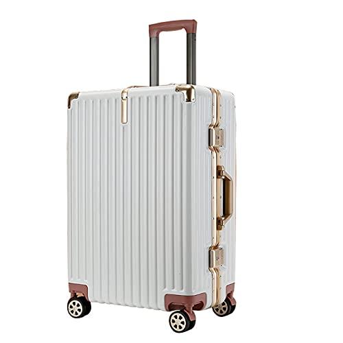 Valigia Trolley Carry Trolley Con Telaio In Alluminio Trolley A Portata Di Mano Bagaglio A Mano Borsa Da Viaggio Con Guscio Rigido Leggero 4 Ruote Universali Silenziose, Con Serratura A Codice