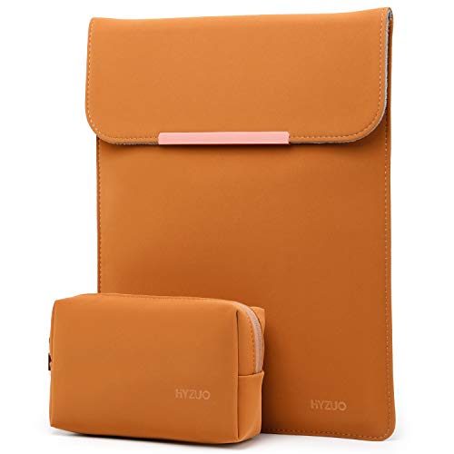 HYZUO 15-16 Inch Laptop Sleeve Case Bag Compatible with 2019 2020 New Macbook Pro 16 A2141/ Surface Laptop 3 15 Inch/Dell XPS 15/2012-2015 Old MacBook Pro 15 A1398 with Small Bag, Brown