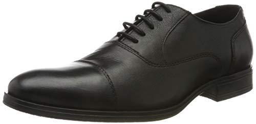 Jack & Jones Jfwdonald Leather Anthracite Noos, Zapatos de Cordones Derby para Hombre
