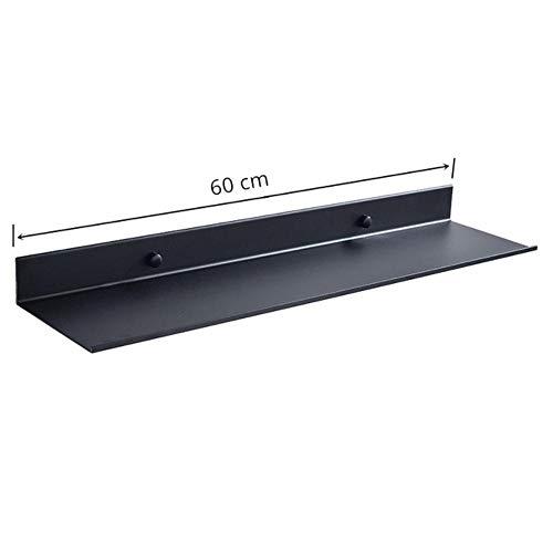 XCVB Badkameraccessoires 30-60 cm Moderne matzwarte badkamerplanken Keuken Wandplank Douche Bad Opbergrek, 60 cm lengte