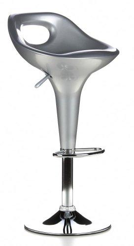 Buerostuhl24 Trend Argento sgabelli da Bar (2 Confezione da/2 sgabelli)