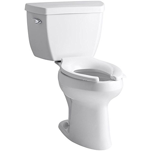 Highline Classic Comfort Height Two-Piece Elongated 1.6 GPF Toilet with Pressure Lite Flush Technology, Tank Cover Locks, and Left-Hand Trip Lever