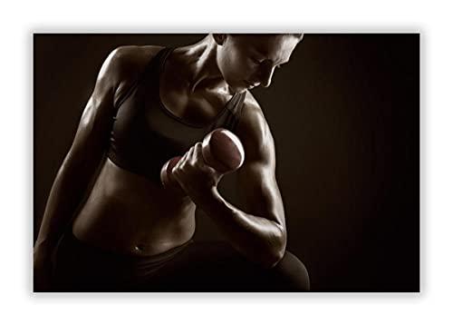 Sexy Fitness model Culturismo chica Póster Impresión Lienzo Múltiples Tamaño Gym Mujer Fitness Pared Arte Cuadros Hogar Gimnasio inspiracional Ejercicio Pared Decoración