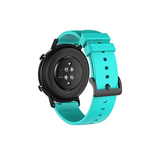 LYB Banda de Reloj de Silicona de 20 mm para Huawei Watch GT2 42mm Soft Sport Correa para Samsung Galaxy 42mm Active2 Gear S2 Pulsera de Banda de Reloj (Color : 4)