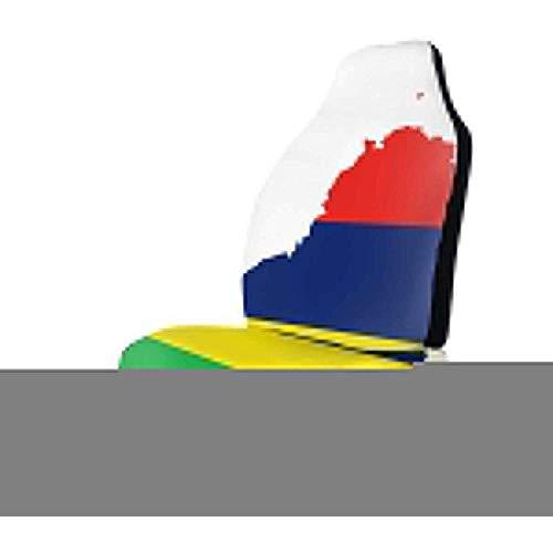 Preisvergleich Produktbild Sobre-mesa Karte Und Flagge Von Mauritius Autositzbezüge Komplettsatz Von 1,  Fahrzeugsitzschutz Fit Auto,  LKW,  Geländewagen