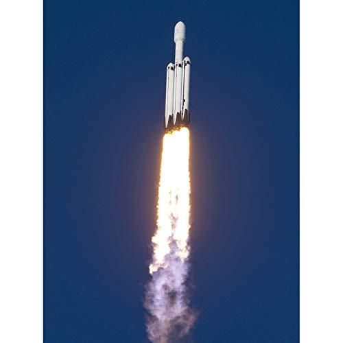 Space X Arabsat-6A Mission Flight Thrusters Unframed Wall Art Print Poster Home Decor Premium Spazio Volo Parete Manifesto Casa