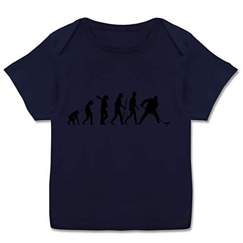Evolution Baby - Eishockey Evolution - 56-62 (2/3 Monate) - Navy Blau - Baby Shirts mädchen Eishockey - E110B - Kurzarm Baby-Shirt für Jungen und Mädchen