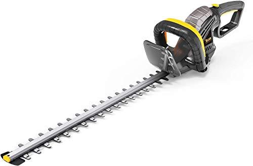 TECCPO Taille-Haies Électrique 600W, Lame 61cm, Capacité de Coupe 24mm, Poignée Rotative à 180°...