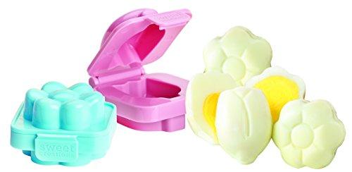 Sweet Creations Spring Flower Egg Mold, 2-Pack, Pink/Blue