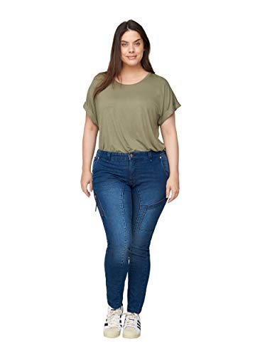 Zizzi Große Größen Damen Extra Slim Fit Jeans mit Stretch Gr 46 Blau