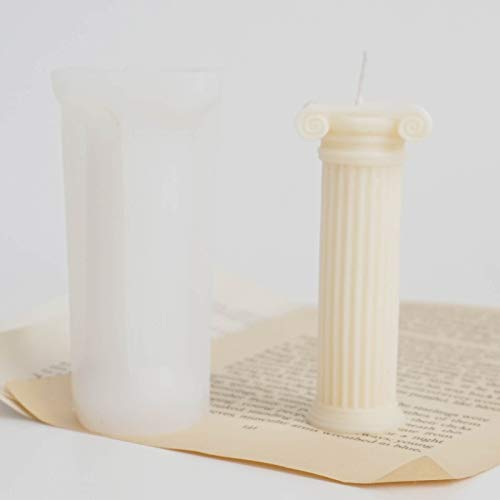 Column Candle Mould Silicone Resin European Pattern 3D Ancient Greek Roman Pillar Epoxy Casting Molds, Soap Jewelry Plaster Making Tool for Wedding Valentine's Day Birthdays Home Decor