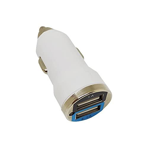 Clenersa Cargador de Coche Doble Puerto USB 5V 2.1A, para Mechero Coche, Pequeño y Ligero, para Teléfonos y Tabletas, iPhone Samsung LG HTC Sony Huawei Xiaomi y más