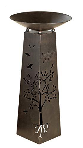 Homeshop Metallständer mit Ausschnitten komplett mit Schale mit Schrift Lieblingsplatz