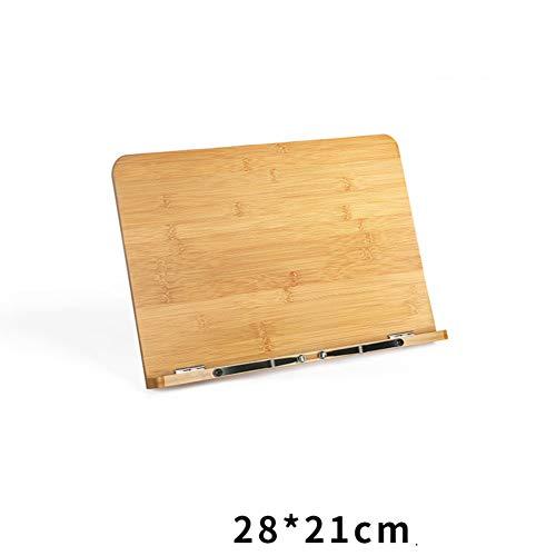 KELE houten multifunctionele leesstandaarden kookboekstandaard, boekstandaard eenvoudige tafel volwassenen studenten lezen display kranten houder boek map tijdschrift rack