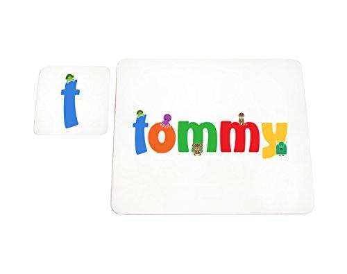 Feel Good Art brillant Set de table et dessous-de-verre pour bébés/bambins (Tommy)