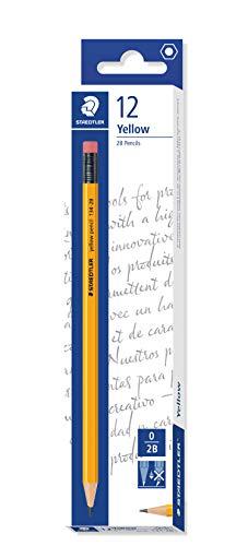 Staedtler 2B Pencil with Eraser Tip, Pack of 12