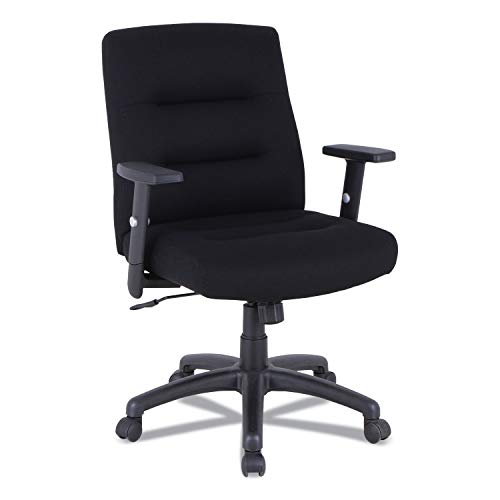 Alera Kesson Series Petite Office Chair, Supports up to 300 lbs, Black Seat/Black Back, Black Base