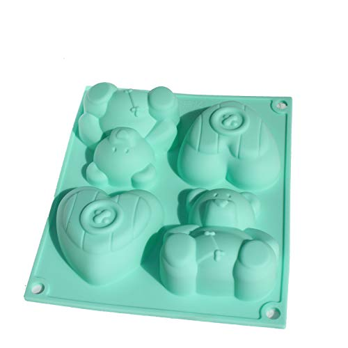 x-haibei Fat Bär Herz Cupcake Schokolade Seife Muffin Pudding Silikon Mold Backform Kinder Gfit