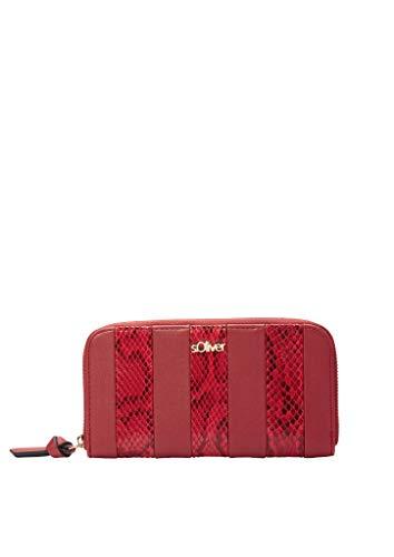 s.Oliver RED LABEL Damen Zip Wallet mit Snake-Details red 1