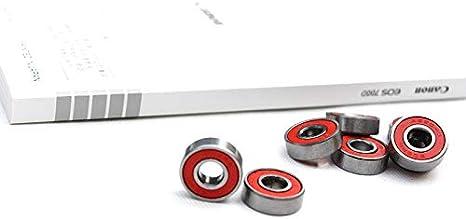 2019 Lot de 4 roues de skateboard en polyur/éthane et 8 roulements noirs 52 mm x 30 mm Roues 100 A haute densit/é KangFang-Ge