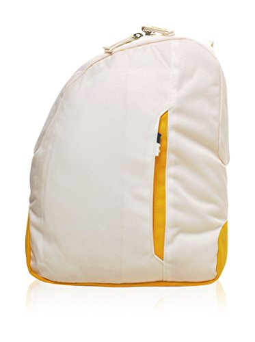 Zaino Monospalla Invicta, BackPack B-color, 5 Lt, Bianco Arancione, Casual & Tempo Libero