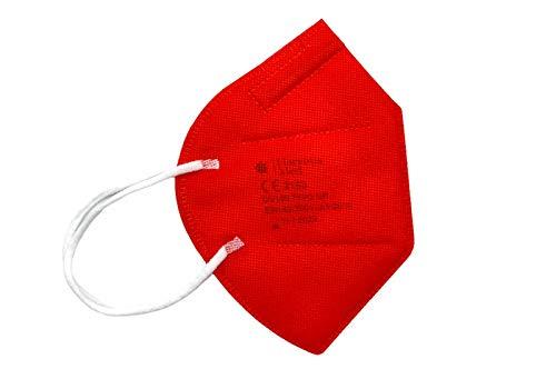 Florentia Med ROTE FFP2-Masken HERGESTELLT IN ITALIEN CE-zertifizierte Kategorie PSA: III, gemäß EN 149: 2001 + A1: 2009. Schachtel mit 20 Stück Einzeln verpackt und versiegelt